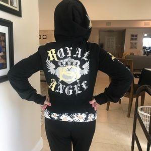 BEBE Royal 👑 Angel Hooded sweatshirt Jacket M/L